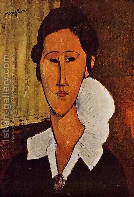 Portrait Of Anna Zborovska by Amedeo Modigliani - Reproduction Oil Painting