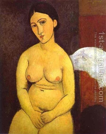 Seated Nude I by Amedeo Modigliani - Reproduction Oil Painting
