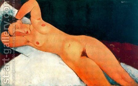 Nude With Necklace by Amedeo Modigliani - Reproduction Oil Painting
