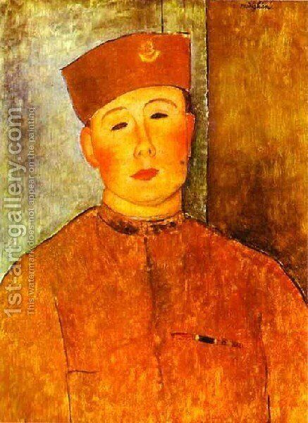 The  Zouave by Amedeo Modigliani - Reproduction Oil Painting