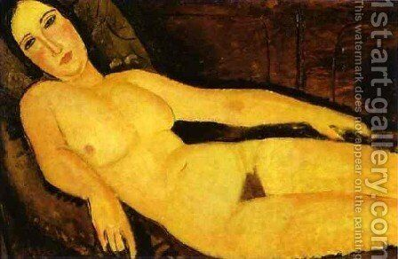 Nude On A Divan by Amedeo Modigliani - Reproduction Oil Painting