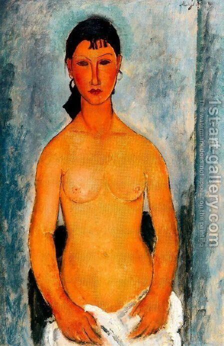 Standing Nude   Elvira by Amedeo Modigliani - Reproduction Oil Painting