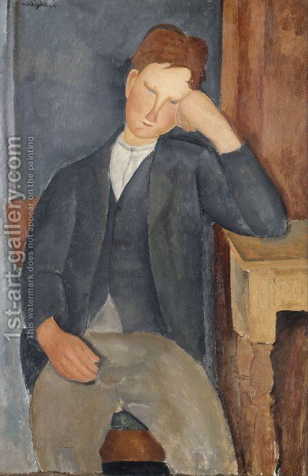 The Young Apprentice by Amedeo Modigliani - Reproduction Oil Painting