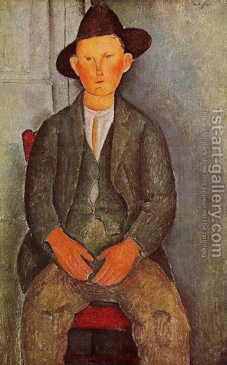 The Little Peasant by Amedeo Modigliani - Reproduction Oil Painting