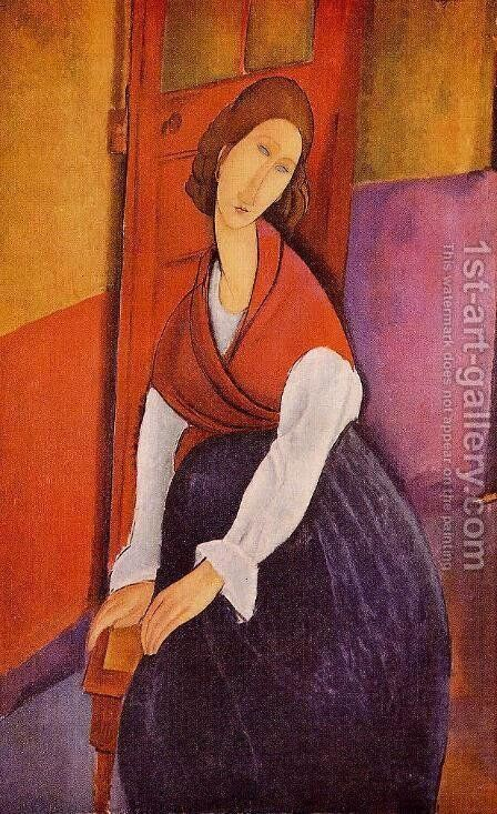 Portrait Of Jeanne Hebuterne by Amedeo Modigliani - Reproduction Oil Painting