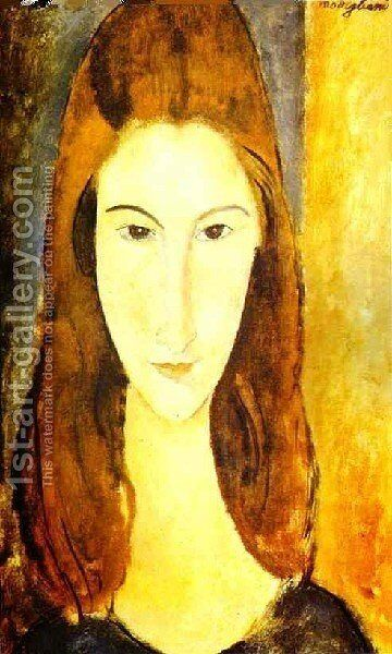 Portrait Of Jeanne Hebuterne Ii by Amedeo Modigliani - Reproduction Oil Painting