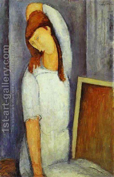 Portrait Of Jeanne Hebuterne Iii by Amedeo Modigliani - Reproduction Oil Painting