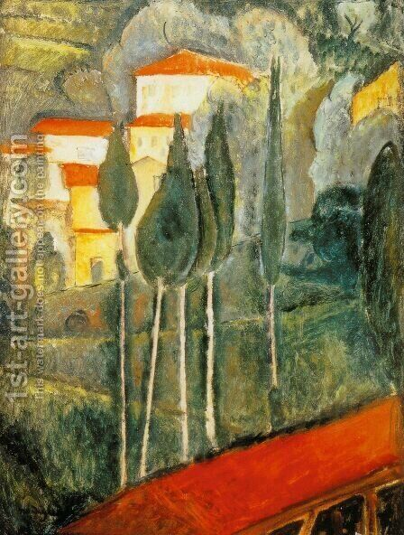 Landscape by Amedeo Modigliani - Reproduction Oil Painting