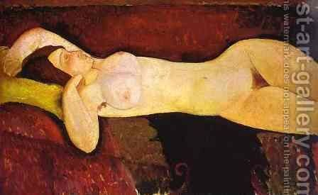Reclining Nude   Le Grande Nu by Amedeo Modigliani - Reproduction Oil Painting