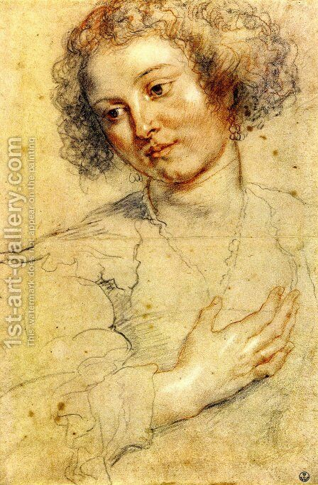 Head And Right Hand Of A Woman by Rubens - Reproduction Oil Painting