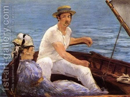 Boating  1874 by Edouard Manet - Reproduction Oil Painting