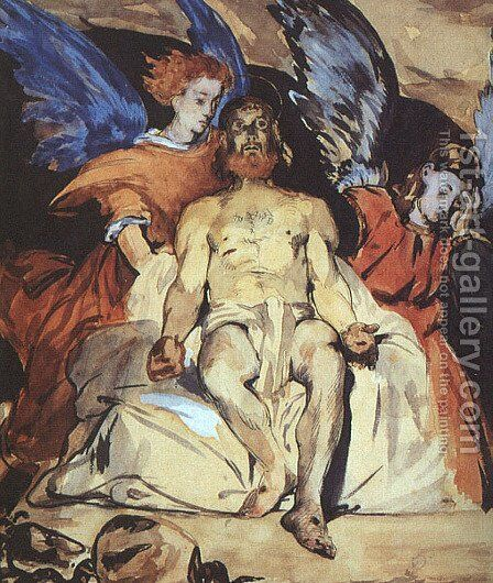 Christ with Angels  1864 by Edouard Manet - Reproduction Oil Painting