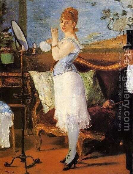 Nana  1877 by Edouard Manet - Reproduction Oil Painting