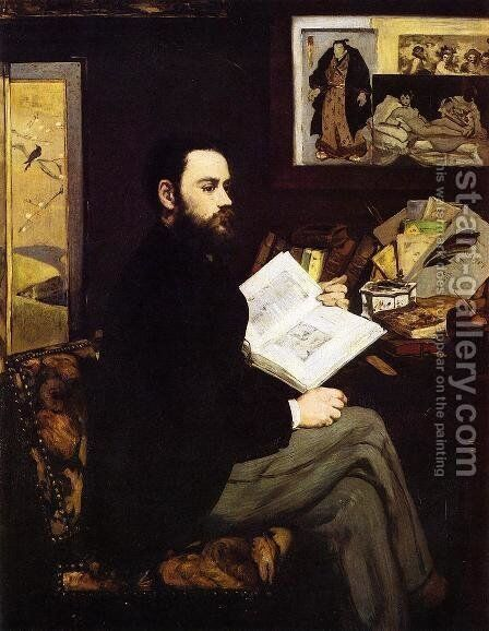 Portrait of Emile Zola  1868 by Edouard Manet - Reproduction Oil Painting