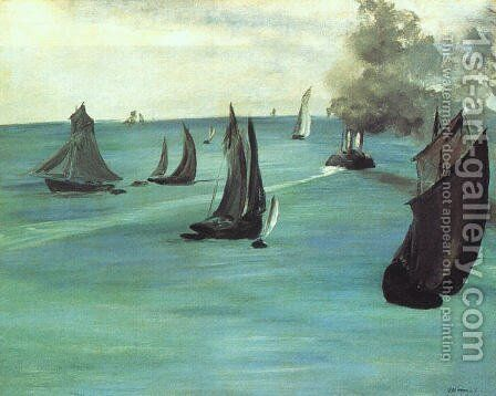 The Beach at Sainte-Adresse  1867 by Edouard Manet - Reproduction Oil Painting