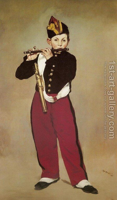The Fifer  1866 by Edouard Manet - Reproduction Oil Painting