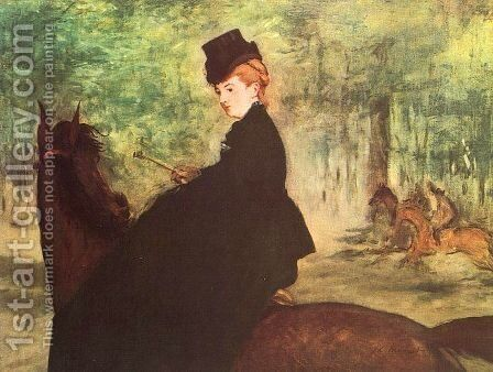 The Horsewoman  1875 by Edouard Manet - Reproduction Oil Painting