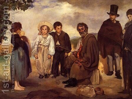 The Old Musician  1862 by Edouard Manet - Reproduction Oil Painting