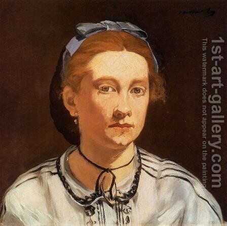 Portrait of Victorine Meurent  1862 by Edouard Manet - Reproduction Oil Painting