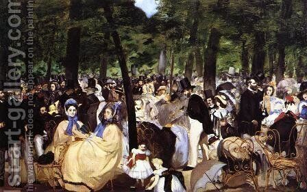 Music In The Tuileries Gardens by Edouard Manet - Reproduction Oil Painting