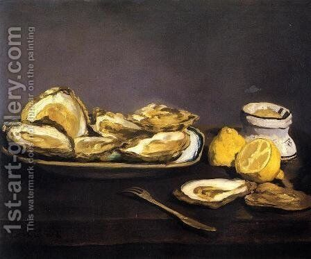 Oysters by Edouard Manet - Reproduction Oil Painting