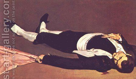 The Dead Toreador by Edouard Manet - Reproduction Oil Painting