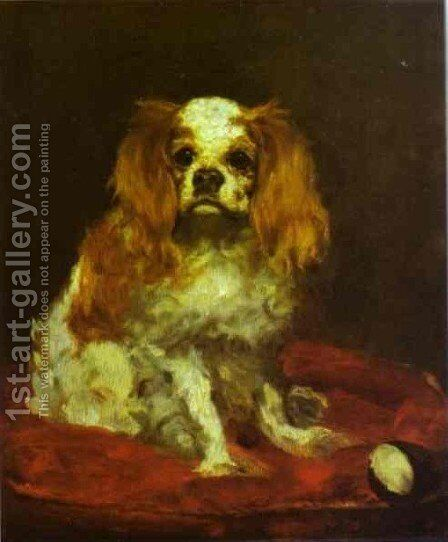 A King Charles Spaniel by Edouard Manet - Reproduction Oil Painting