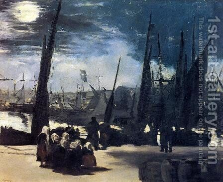 Moonlight Over The Port Of Boulogne by Edouard Manet - Reproduction Oil Painting