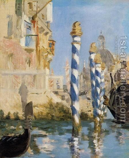 The Grand Canal   Venice by Edouard Manet - Reproduction Oil Painting