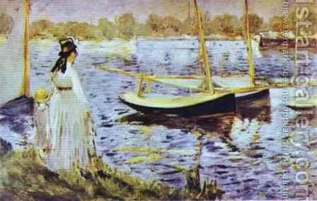 The Banks Of The Seine At Argenteuil by Edouard Manet - Reproduction Oil Painting