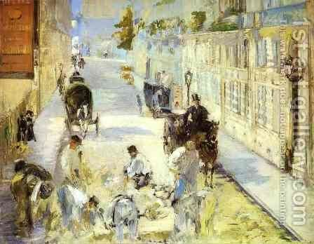The Road Menders   Rue De Berne by Edouard Manet - Reproduction Oil Painting