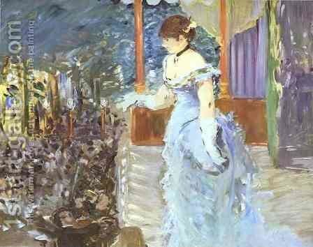 Singer At A Cafe Concert by Edouard Manet - Reproduction Oil Painting