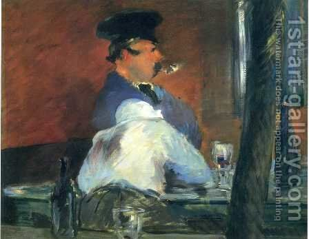 In The Bar   Le Bouchon by Edouard Manet - Reproduction Oil Painting