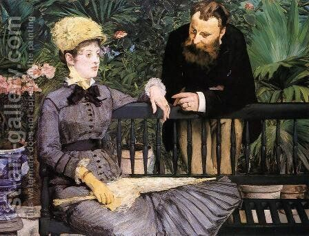 The Conservatory by Edouard Manet - Reproduction Oil Painting