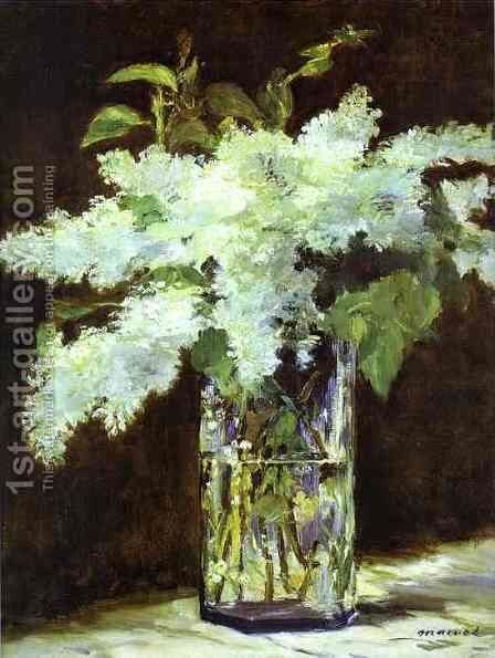 Lilac In A Glass by Edouard Manet - Reproduction Oil Painting