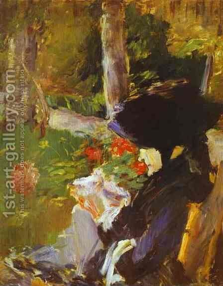 Manet's Mother In The Garden At Bellevue by Edouard Manet - Reproduction Oil Painting