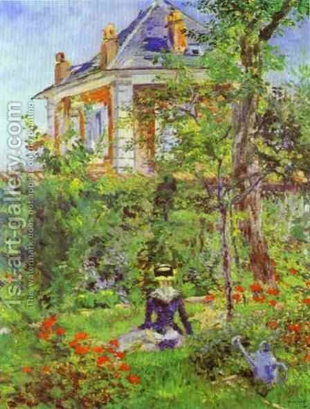Girl In The Garden At Bellevue by Edouard Manet - Reproduction Oil Painting