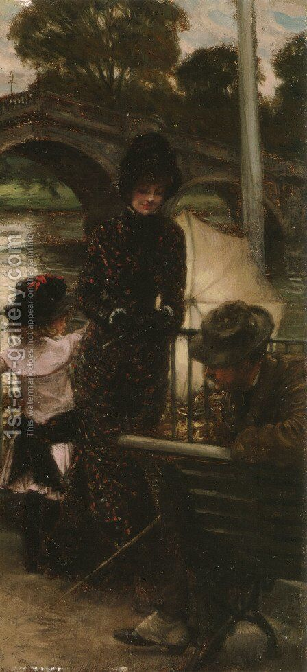 A Declaration Of Love by James Jacques Joseph Tissot - Reproduction Oil Painting