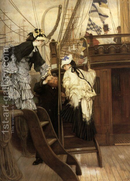 Boarding The Yacht by James Jacques Joseph Tissot - Reproduction Oil Painting