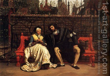 Faust And Marguerite In The Garden by James Jacques Joseph Tissot - Reproduction Oil Painting