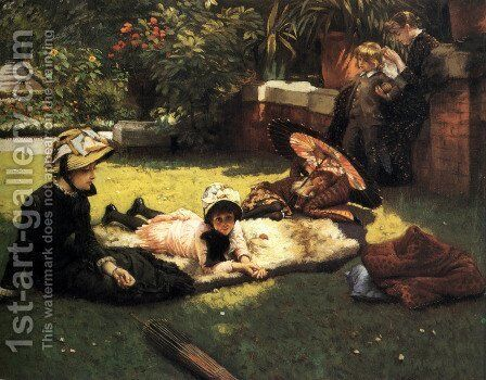 In The Sunshine by James Jacques Joseph Tissot - Reproduction Oil Painting