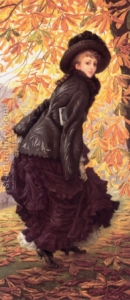 October 1877 by James Jacques Joseph Tissot - Reproduction Oil Painting