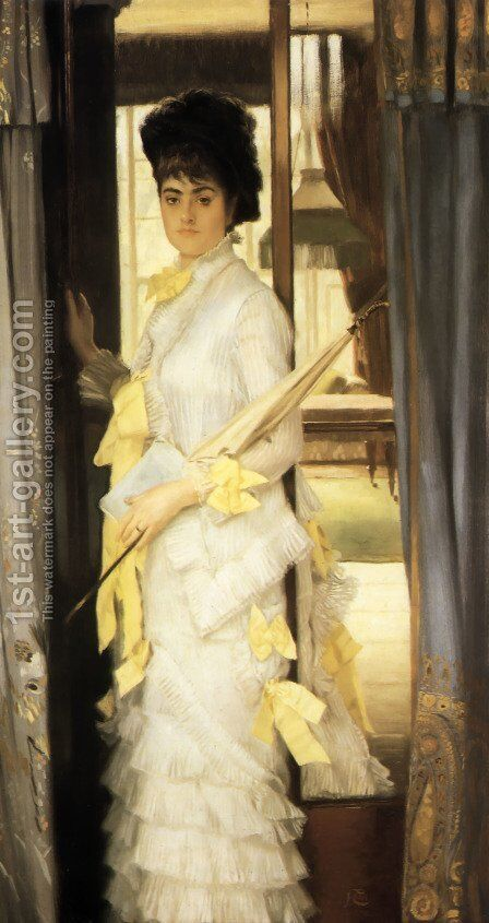 Portrait Of Miss Lloyd by James Jacques Joseph Tissot - Reproduction Oil Painting