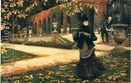 The Letter by James Jacques Joseph Tissot - Reproduction Oil Painting