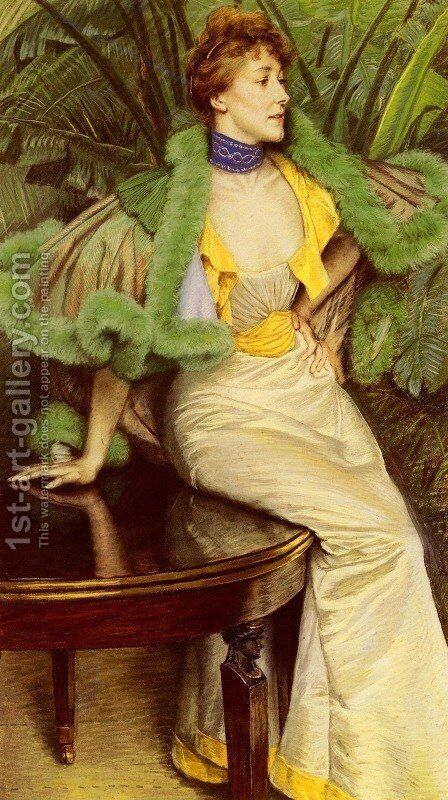 The Princesse De Broglie by James Jacques Joseph Tissot - Reproduction Oil Painting