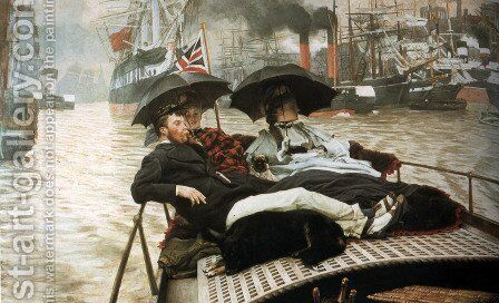 The Thames by James Jacques Joseph Tissot - Reproduction Oil Painting