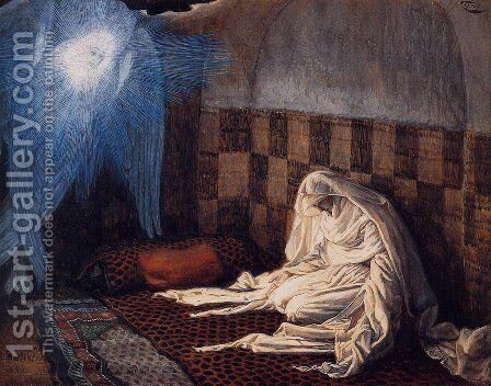 The Annunciation 1886-96 by James Jacques Joseph Tissot - Reproduction Oil Painting