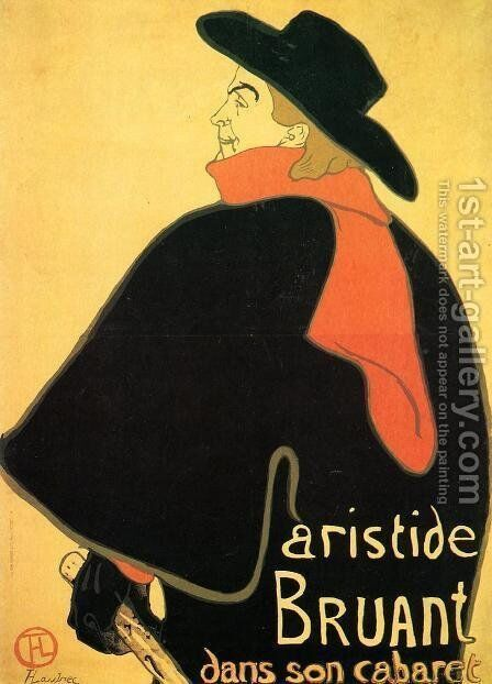 Aristede Bruand At His Cabaret by Toulouse-Lautrec - Reproduction Oil Painting