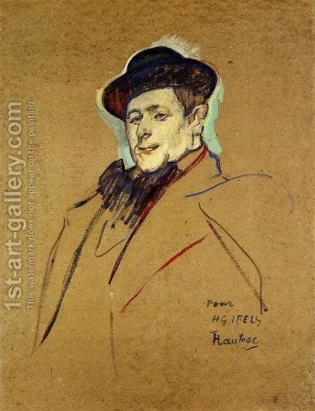 Henri Gabriel Ibels by Toulouse-Lautrec - Reproduction Oil Painting