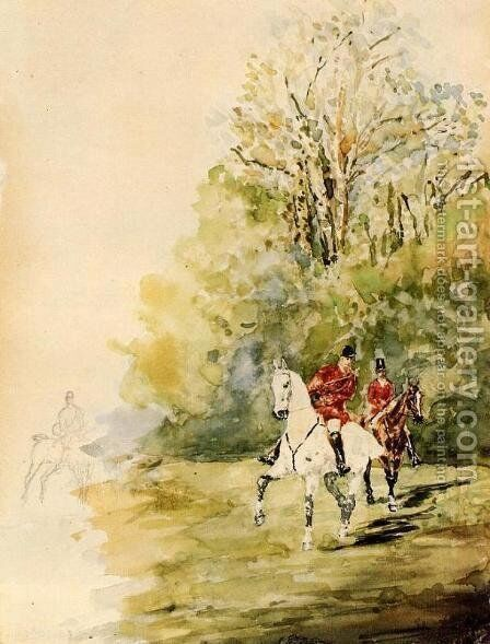 Hunting by Toulouse-Lautrec - Reproduction Oil Painting